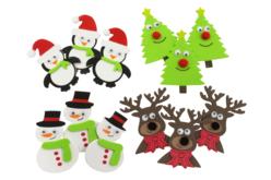 Stickers de Noël en caoutchouc souple - 12 stickers - Formes en Mousse autocollante – 10doigts.fr