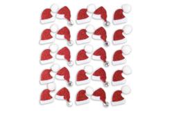 Stickers pailletés bonnet de Père Noël  - 25 stickers - Décorations Noël – 10doigts.fr