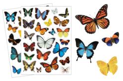 Gommettes papillons réalistes - gommettes - Gommettes réalistes – 10doigts.fr