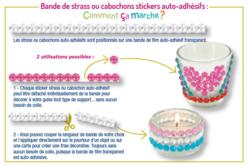 Bande de strass adhésifs fleurs - 225 strass - Stickers strass, cabochons – 10doigts.fr - 2