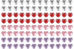 Strass adhésifs coeurs - 140 pièces