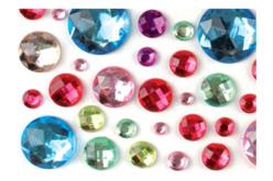 Strass adhésifs ronds multicolores - 106 strass - Strass – 10doigts.fr - 2