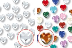 Minis strass cœurs adhésifs - 72 strass - Stickers strass, cabochons – 10doigts.fr