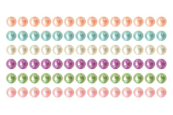 Bandes de cabochons nacrés adhésifs - 288 strass - Stickers strass, cabochons – 10doigts.fr