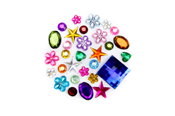 strass couleurs vives