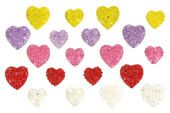 "Strass adhésifs coeurs ""diamantines"" - 20 strass - Stickers strass, cabochons – 10doigts.fr"