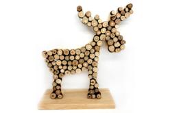 Élan en bois naturel - Décorations de Noël en bois – 10doigts.fr - 2