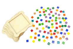 Kit Dessous de verre en mosaïques - Lot de 6 - Mosaïques verre – 10doigts.fr - 2