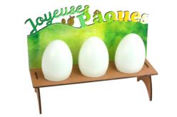 """Support œufs """"Joyeuses Pâques"""" - Supports de Pâques à décorer – 10doigts.fr - 2"""