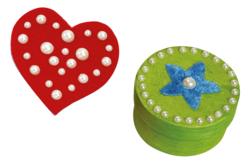 Cabochons nacrés adhésifs - 146 strass - Stickers strass, cabochons – 10doigts.fr - 2