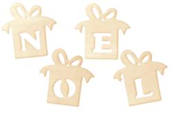 """Cadeaux """"NOEL"""" en bois naturel - Set de 4 - Noël – 10doigts.fr"""