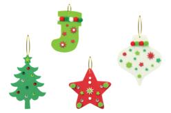 Méga pack formes de Noël à décorer et à suspendre - Suspension Fantaisie – 10doigts.fr - 2