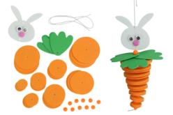 """Suspension """"lapin-carotte"""" - Kits activités de Pâques – 10doigts.fr - 2"""