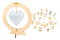 Suspensions coeurs - Lot de 10 - Kits activités fête des mères – 10doigts.fr - 2