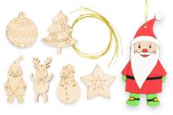 Suspensions de Noël en bois gravé - Set de 6 - Suspensions et boules de Noël – 10doigts.fr - 2