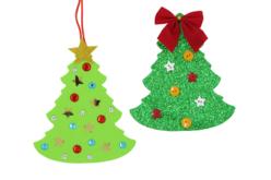 Sapins en caoutchouc mousse - 30 pièces - Suspensions et boules de Noël – 10doigts.fr - 2
