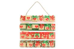 Tableau palette en bois naturel - Décorations de Noël en bois – 10doigts.fr - 2