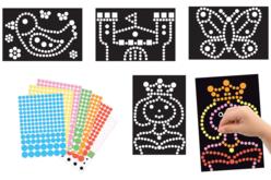Tableaux gommettes - Set de 4 tableaux - Kits activités carteries – 10doigts.fr