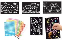 Tableaux gommettes - Set de 4 tableaux - Kits activités carteries – 10doigts.fr - 2