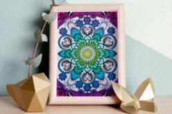 Coffret cartes à gratter - Mandala - Coffret Coloriage et Dessin – 10doigts.fr - 2