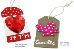 Étiquettes en bois avec cordon et perle - Lot de 6 - Divers – 10doigts.fr - 2