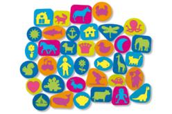 Tampons en caoutchouc mousse multi thèmes - Set de 102 - Tampon dessin – 10doigts.fr - 2
