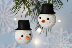 Accessoires à piquer bonhomme de neige - Suspensions et boules de Noël – 10doigts.fr - 2