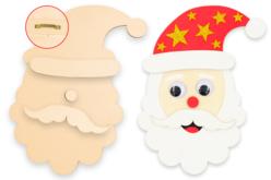 Grand Père Noël à accrocher - Noël – 10doigts.fr