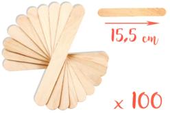 Maxi bâtonnets en bois naturel - Lot de 100 - Bâtonnets, tiges, languettes – 10doigts.fr - 2