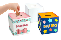 Tirelires en carton blanc - Lot de 12 - Boîtes en carton – 10doigts.fr