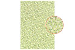 Tissu adhésif fleuri vert - Tissus adhésifs – 10doigts.fr