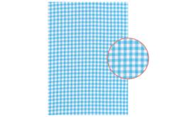 tissu adhésif vichy bleu