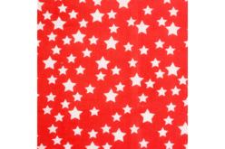 Coupon de tissu en coton imprimé étoiles blanches/fond rouge - 43 x 53 cm - Coupons de tissus – 10doigts.fr - 2