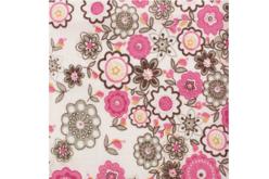 Coupon de tissu imprimé fleurs - 43 x 53 cm - Coupons de tissus – 10doigts.fr - 2
