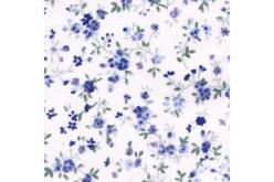 Coupon de tissu imprimé fleurs bleues - 43 x 53 cm - Coupons de tissus – 10doigts.fr - 2