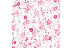 Coupon de tissu imprimé fleurs roses - 43 x 53 cm - Coupons de tissus – 10doigts.fr - 2