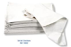 Torchon en coton blanc