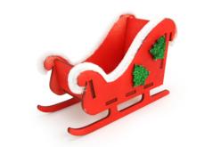 Traineau en bois à monter - Décorations de Noël en bois – 10doigts.fr - 2