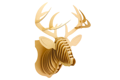 Trophée tête de cerf en carton à assembler - Objets décoratifs en carton – 10doigts.fr