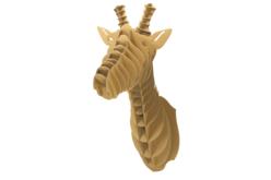 Trophée tête de girafe en carton à assembler - Déco murale Trophée – 10doigts.fr