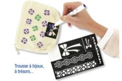 "Pochoirs adhésifs repositionnables ""Plumes"" - Pochoirs Adhésifs – 10doigts.fr - 2"