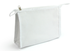 Trousse de toilette en coton blanc avec fermeture éclair - Supports tissus – 10doigts.fr