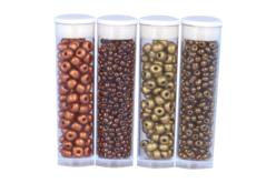 Rocailles Cuivre et Or - 4 tubes - Perles de rocaille – 10doigts.fr