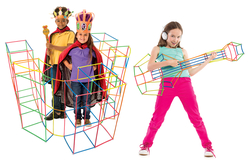 Tubes & connecteurs - Kit de construction 422 pièces - Jeu d'assemblage – 10doigts.fr - 2