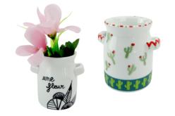 Vases en porcelaine - Lot de 12 - Supports en Céramique et Terre Cuite – 10doigts.fr - 2
