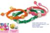 Shamballas... avec des perles craquelées et métal pailleté - Bracelets Shamballas – 10doigts.fr