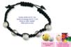 Shamballas... avec perles en métal pailleté + perles en bois - Bracelets Shamballas – 10doigts.fr