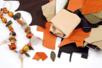 Chutes de cuir véritable, couleurs assorties - 500 gr - Patchwork – 10doigts.fr