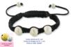 Shamballas... avec des perles en métal pailleté - Bijoux Shamballas – 10doigts.fr