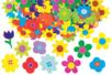 Fleurs brillantes en carte forte - Set de 1250 - Fleurs et feuilles – 10doigts.fr